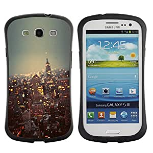 Fuerte Suave TPU GEL Caso Carcasa de Protección Funda para Samsung Galaxy S3 I9300 / Business Style city New York skyline buildings NYC