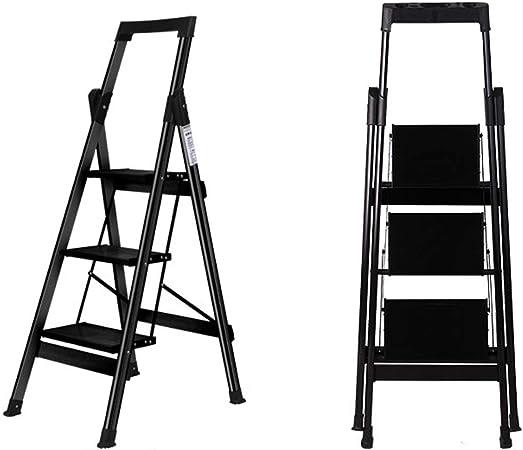 Escalera Plegable Escalera del hogar Taburete Imitación Madera Grano Pedal de Aluminio Paso 3/4/5 Capa Escalera Ascendente Carga máxima 150 kg: Amazon.es: Hogar