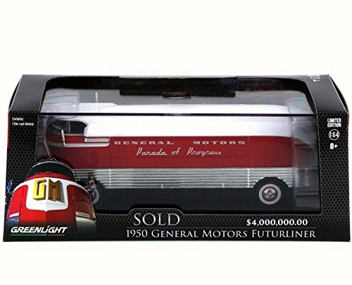 1950 General Motors Futurliner Parade of Progress Hobby Exclusive 2015 Greenlight Barrett-Jackson Limited Edition 1:64 Scale Die-Cast Vehicle & Display Case (Die Cast Promotions 1 64 Scale Trucks)