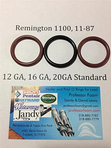 3 Remington O-ring Barrel Seals for Model 1100 12, 16 or 20 Standard Gauge 11-87 12 Ga 16 Ga 20 Ga From Professor Foam