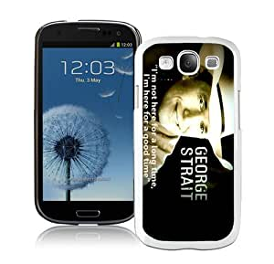 Hot Sale Samsung Galaxy S3 I9300 Case ,George Strait 3 White Samsung Galaxy S3 Cover Unique And Popular Designed Phone Case