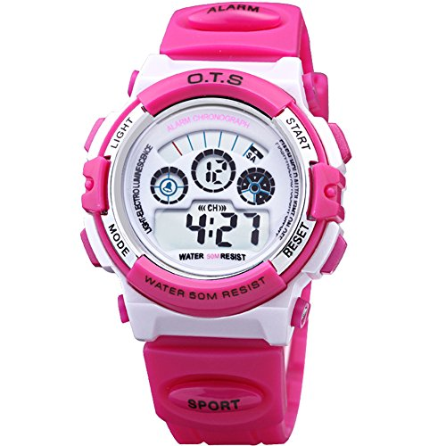Yavinet Waterproof Digital Sport Students Watch for Girls Chronograph by Yavinet