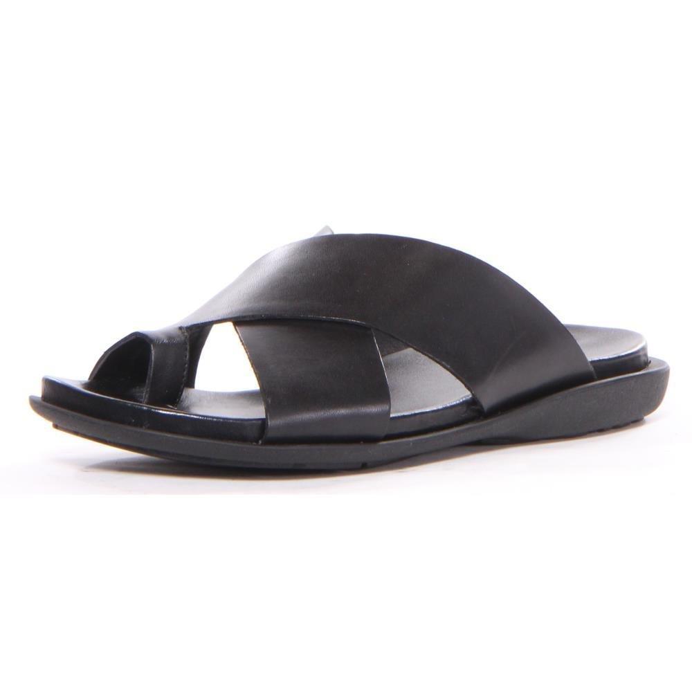 Kenneth Cole New York Men's Under-Sand-Able Toe Ring Sandal, Black, 10 M US