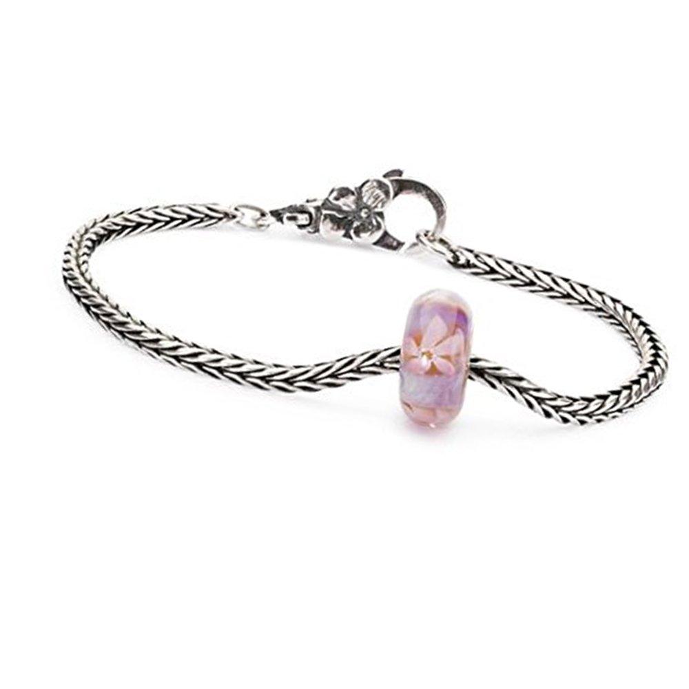 Trollbeads 925 Soft Sunrise Sea Anemone Glass Bead Sterling Silver Bracelet, 20cm by Trollbeads