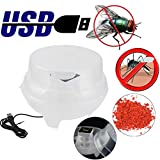 Chezaa Bug Zapper, USB Fly Killer Electric Insect Killer, Mosquito Flycatcher Fly Trap Pest Reject Control Catcher Trap (Clear)