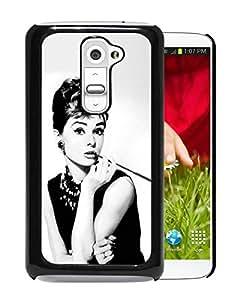 Fashionable Custom Designed Skin Case For LG G2 With Audrey Hepburn Breakfast at Tiffanys Black Phone Case