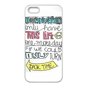 Subrina Sunshine Unique Design Music & Singer Series One Direction Moment Lyrics for iPhone 5 5S Best Durable Silicone Cover Case