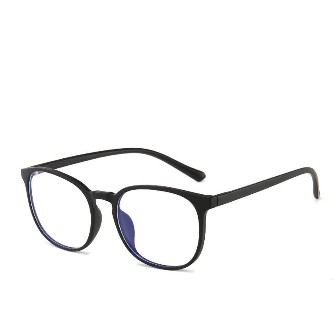 Color : Black Lightpurple Anti-Strahlung und Anti-Blue-Brille Unisex komfortable Brillenrahmen ohne Brille