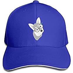 CSECGAR Husky Dog Adjustable Baseball Cap Hip Hop Cap RoyalBlue