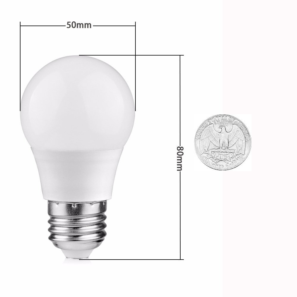 Ceiling Fan Vanity Porch Bedside Kitchen Table Inled Dinning 25w Incandescent Equivalent 3W LED Light Bulb Warm White 2 Pack Floor Lamp Enery Saving Bulb for Bathroom E26 Medium Base Wall