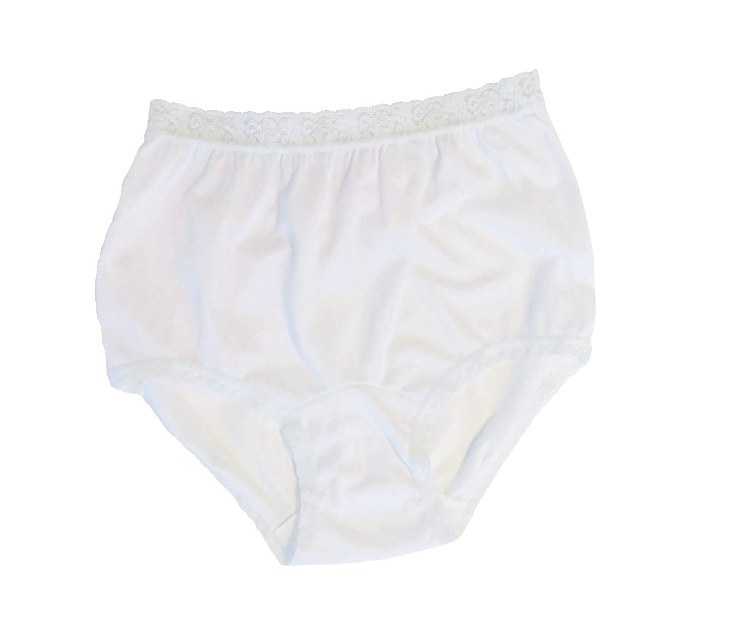0002818f221 Carole Women s Nylon Lace Trim Panties Full Cut Briefs - Pack of 3 at Amazon  Women s Clothing store