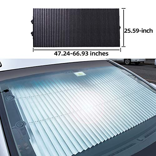 Retractable Protection Windshield Automatic Front 25 59inch product image