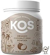 KOS Organic Coconut Milk Powder - Unsweetened, Dairy Free Coffee Creamer - Vegan, Non GMO, Gluten...