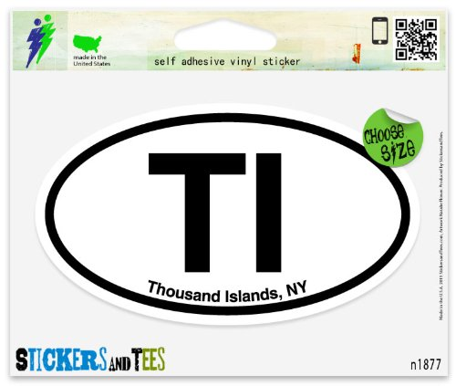 TI Thousand Islands New York Oval Vinyl Car Bumper Window Sticker 3