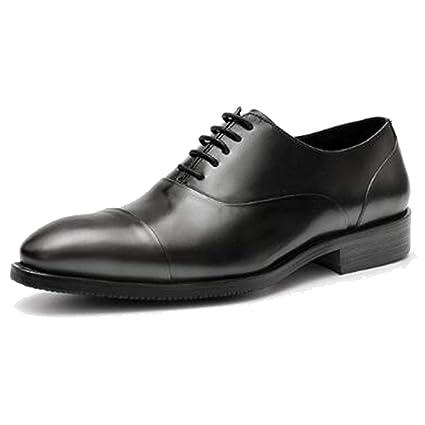 snfgoij Zapatos Oxford para Hombre Confort Negro de la Boda ...