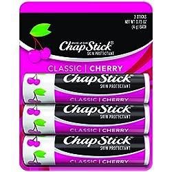 Chapstick Lip Balm-Classic Cherry-3 Count