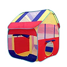 Pericross Kids Play Hut Outdoor Indoor Fun Play Big Tent Playhouse Pop Hut Play Pit Balls Pool