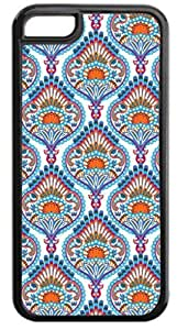 01-Ornate Paisley Case for the APPLE IPHONE 5, 5s-NOT THE 5C!!!-Hard Black Plastic Outer Case with Tough Black Rubber Lining