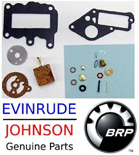 Johnson Evinrude Outboard Engine 382048 Premium Carburetor Repair Kit 1964-1973 9.5 HP BRP# 765630 (Johnson Outboard Engine)