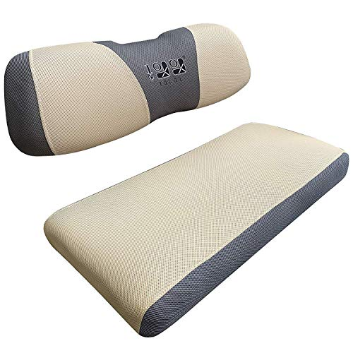 10L0L Golf Cart Seat Cover Mesh Bench Seat Cover Fits Most of Yamaha Club Car Precedent DS 2-seat (Beige)