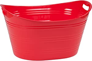 CreativeWare PTUB-FR Party Tub 8.5 Gl, Fire Red, 8.5 Gallon
