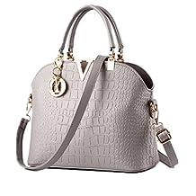 BURNING SECRET Women Leather Top Handle Satchel Handbag Shoulder Bags Tote Purse
