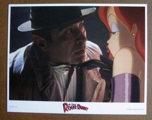 CX48 WHO FRAMED ROGER RABBIT Jessica Rabbit MINT '88 LC.  Here's a terrific PORTRAIT lobby card from the original release of WHO FRAMED ROGER RABBITT featuring a great image -