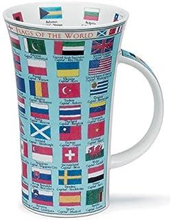dunoon glencoe fine china educational flags of the world mug cup 500ml