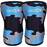 BeSmart Knee Sleeves (Pair) Powerlifting Weightlifting Patella Support Brace Protector crossfit S