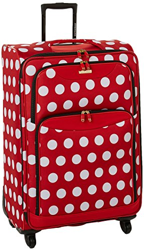 American Tourister 28 Inch, Minnie Mouse Polka Dot American Tourister Lightweight Suitcase