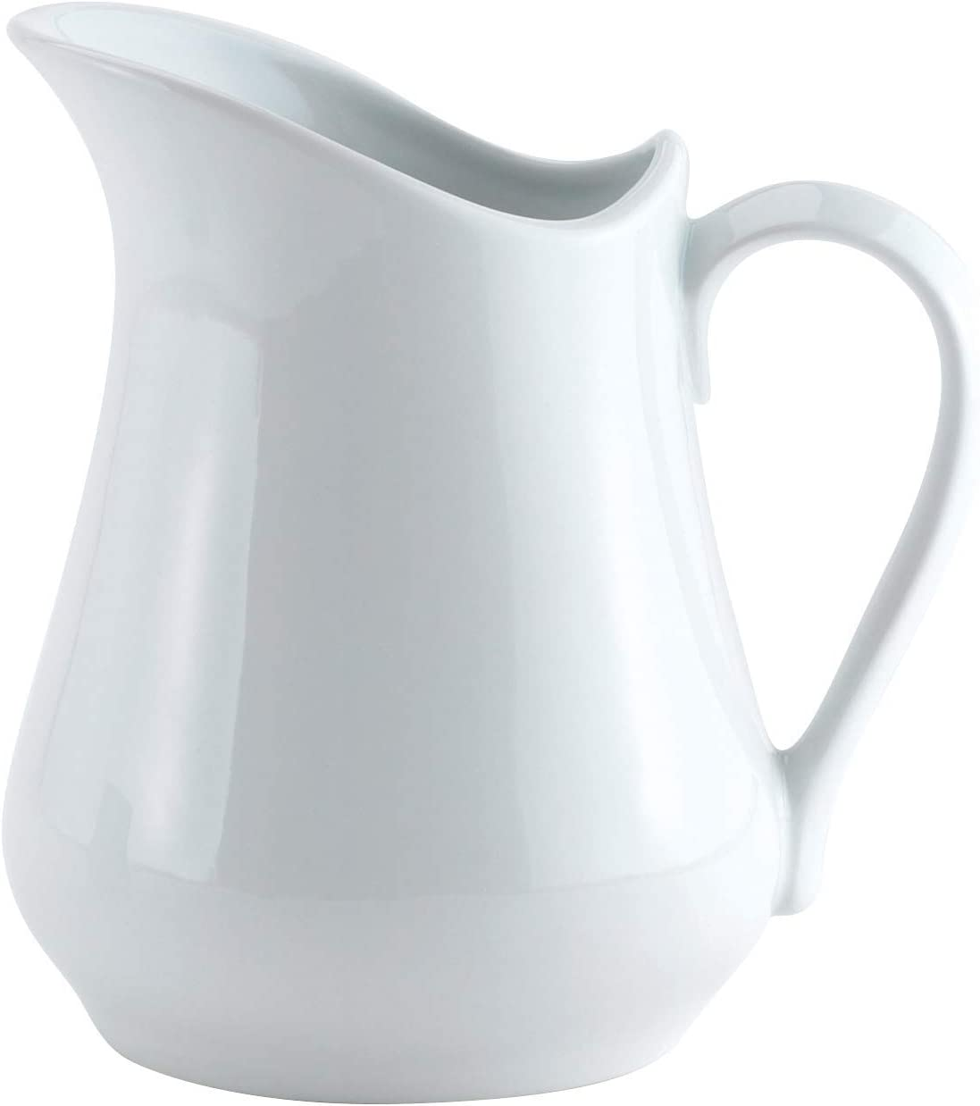 TEOCH Creamer Pitcher with Handle, Fine White Porcelain, 16-Ounces