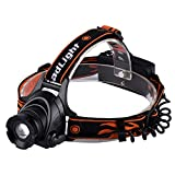 ZOUQILAI Flashlight LED Headlamp 2000 Lumen XML T6 Headlight 3 Modes Waterproof Zoomable Light Torch Rechargeable