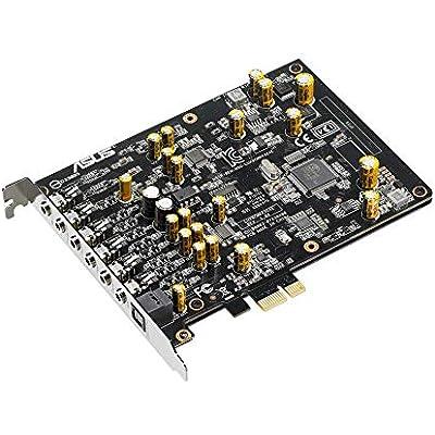 Asus Xonar Internal 7 1  Channel PCIe Sound Card  32  Bit  110  dB  103  dB  24-bit 192 kHz