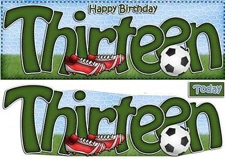 Grande DL 13th cumpleaños fútbol tarjeta y 3d Decoupage por ...