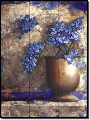 "UPC 810753024518, Provence Urn I by Louise Montillio - Flowers Floral Tumbled Marble Tile Mural 16"" x 12"" Kitchen Shower Backsplash"