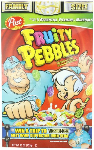 Post Fruity Pebbles Cereal, 15-Ounce Boxes (Pack of 4)