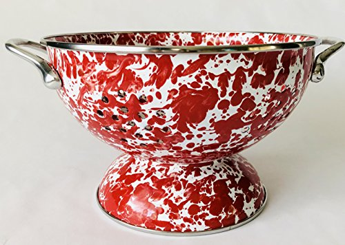 Medium Swirl 1.5 quart Colander Athens Red - - 1.5 Colander Quart