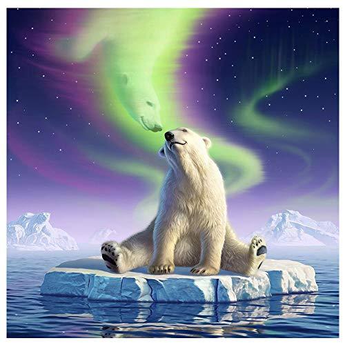 Hrank 5D DIY Diamond Painting,Full Drill Rhinestone Arts Craft for Home Wall Decor,Polar Bear,Size:30x30CM/12X12inch]()