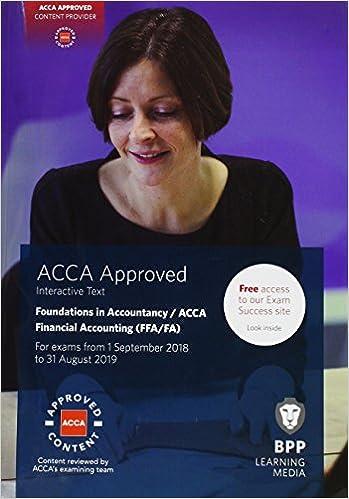 FIA Foundations of Financial Accounting FFA (ACCA F3