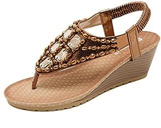 Donyyyy Talón pendiente de calzado mujer sandalias chop perforación de agua
