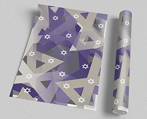 Star-of-David-Gift-Wrap-Gift-wrap-for-the-Jewish-Festivals-and-Events-Gift-wrapping-Sheets-Price-for-2