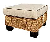 Water Hyacinth Rome Ottoman Made By Chic Teak