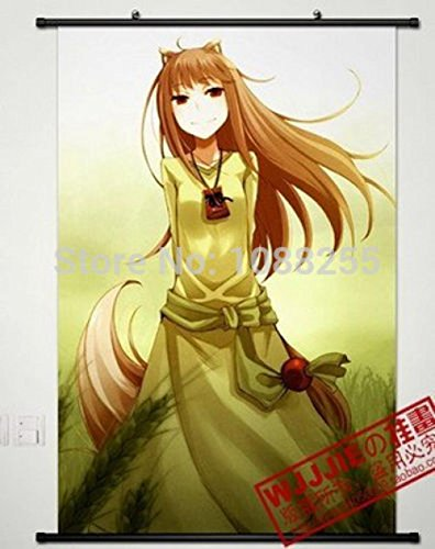 (Cartoon world Anime Spice and Wolf Holo Home Decor Poster Wall Scroll)