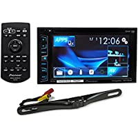 Package: Pioneer AVH-X1800S 6.2 2-Din LCD DVD/CD/MP3 Monitor/Receiver/Player + Rockville RBC5B Black Rearview Backup License Plate Bar Camera