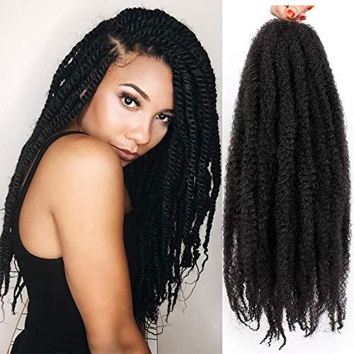 AISI BEAUTY Marley Braiding Hair Extension Marley Hair for Twists Afro Twist Braid Hair Synthetic Twist Crochet Hair Afro Kinky Hair Havana Braids 3 Packs (18