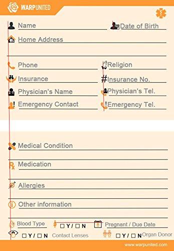Pack de 5 interkulturell Gráficos Key2Life - Emergencia ID Tarjeta ...
