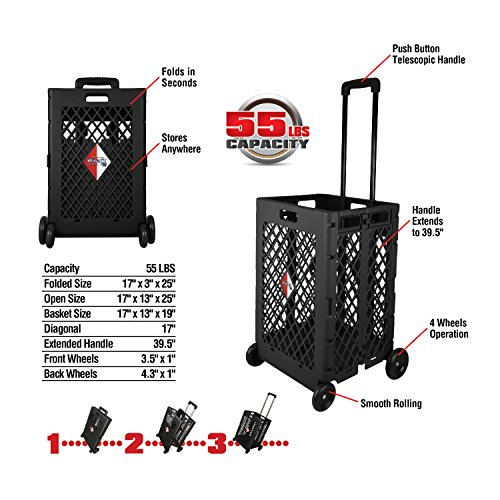 Pack-N-Roll Mesh Rolling Cart ()