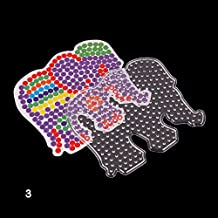 TR.OD Perler Beads Boards, Clear Pegboards for 5mm, Hama Fuse Beads Board for Kids DIY Craft, Elephant