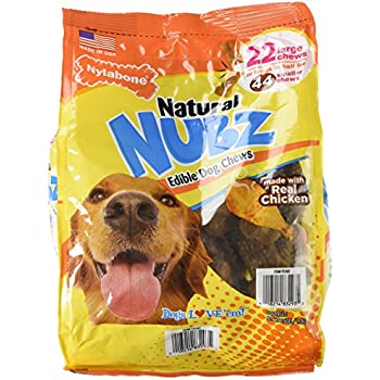 Amazon.com : Nylabone Natural Nubz Edible Dog Chews 22ct
