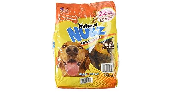 Nylabone Natural nubz Edible Dog Chews 22 CT. (2.6lb Bag) by: Amazon.es: Productos para mascotas